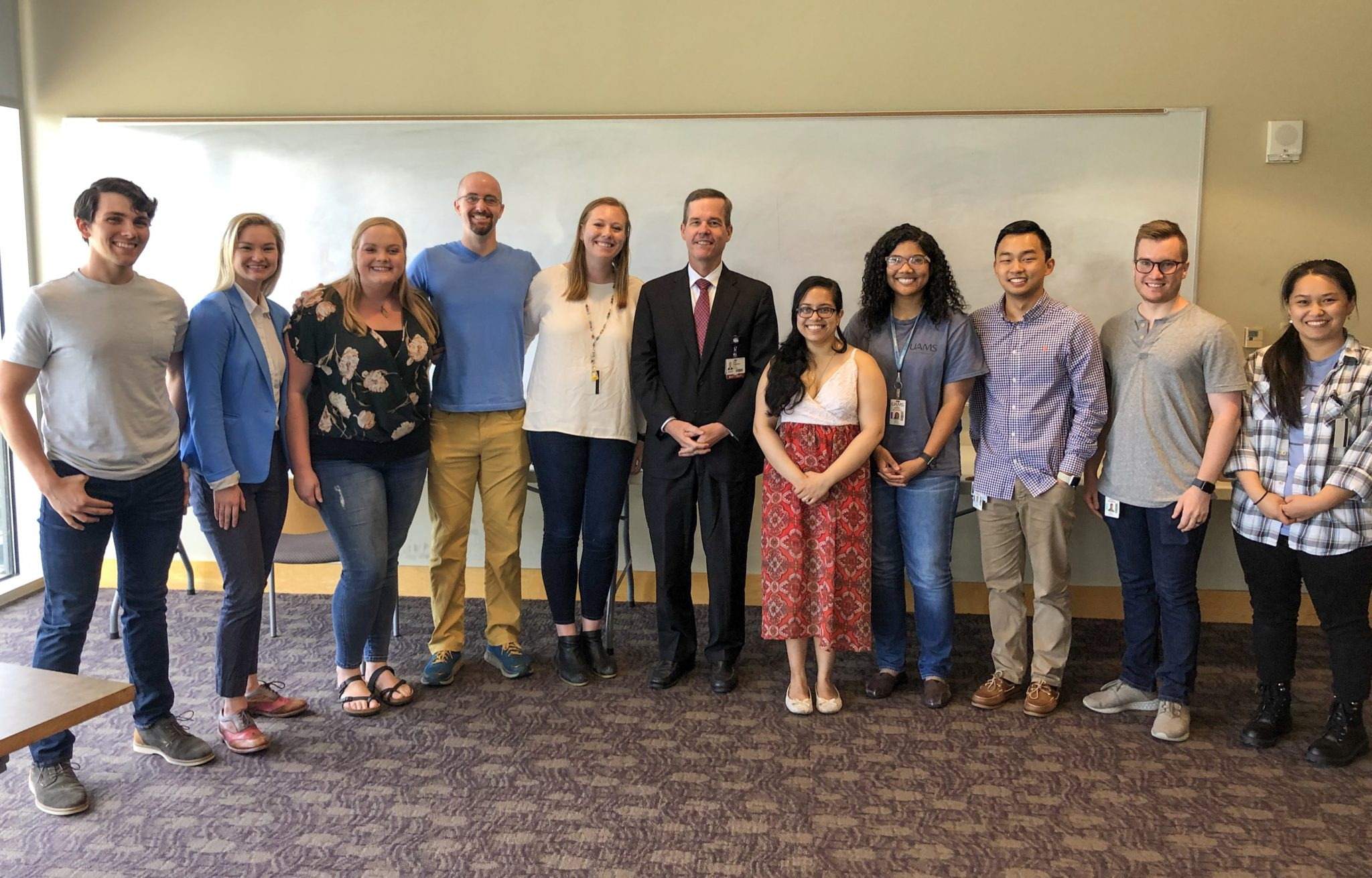Group photo with Dr. Patterson